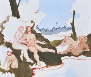 Krumme Lanke Arkadien, Öl und Acryl auf Leinwand 110x130 cm, 2009