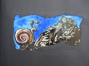 Tagtraum - Schnecke Felsmassen